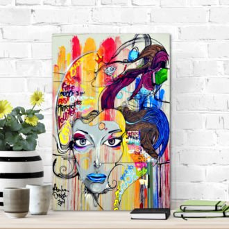 tablou canvas abstract face AGR 005