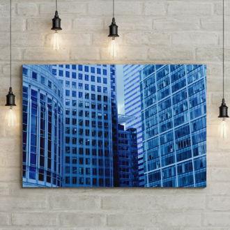 tablou canvas Blue Skyscraper UAR 006 mockup 1