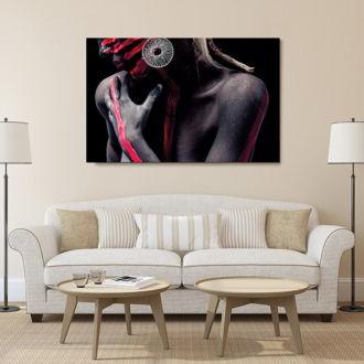 tablou canvas Body Paint Black LPL 007 mockup 1
