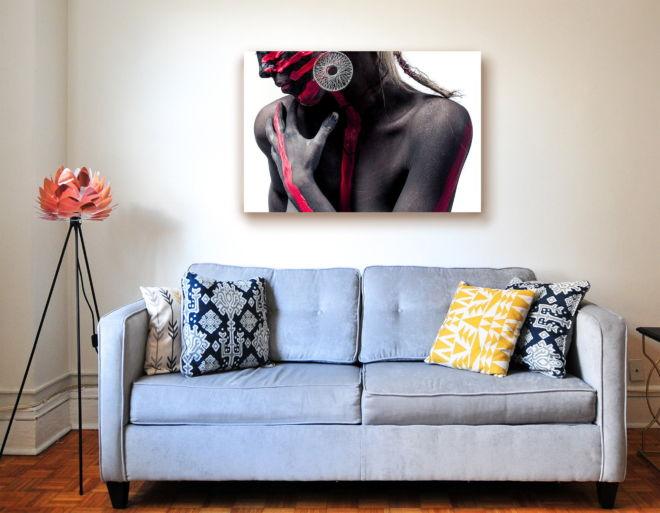 tablou canvas Body Paint White LPL 001 mockup 2 1
