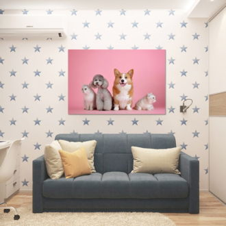 tablou canvas Cats and dogs NWA 028 mockup 1