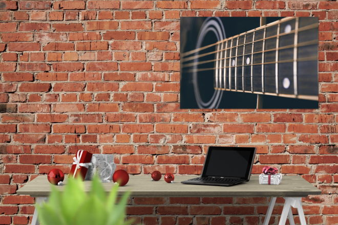 tablou canvas Guitar strings LMU 012 mockup 1