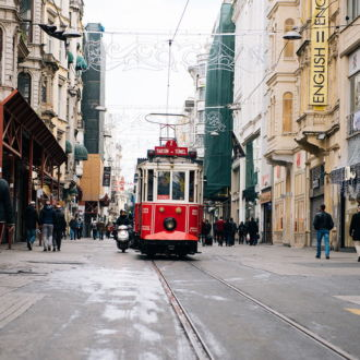 tablou canvas Istanbul nostalgic tramway TRL 001 1
