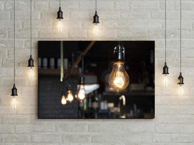 tablou canvas Light bulbs UND 003 mockup 1