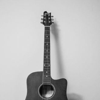 tablou canvas Lonely guitar LMU 013 1