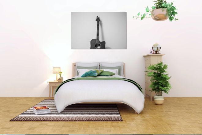 tablou canvas Lonely guitar LMU 013 mockup 1