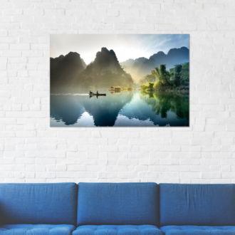 tablou canvas Morning boat ride NLS 021 mockup 2 1