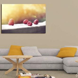 tablou canvas Raspberries FFR 004 mockup 1