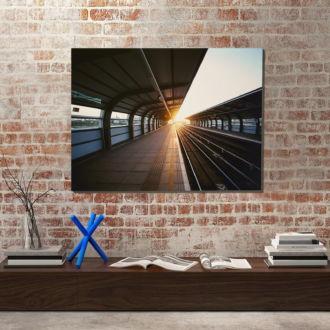 tablou canvas Train station UAR 009 mockup 1