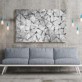 tablou canvas Triangles ABW 009 mockup 1