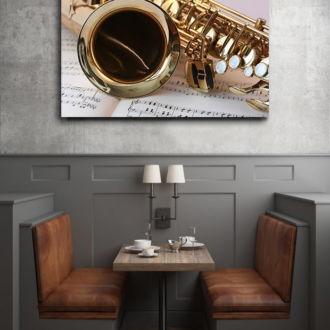 tablou canvas Trumpet Closeup LMU 007 mockup 1