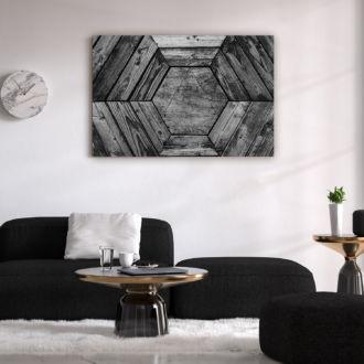 tablou canvas Wood Hexagron AWO 009 mockup 1