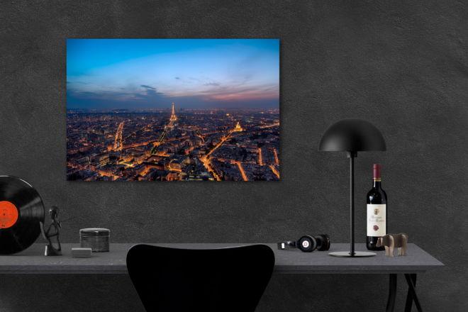 tablou canvas centrul parisului de la inaltime UNL 028 mockup 1