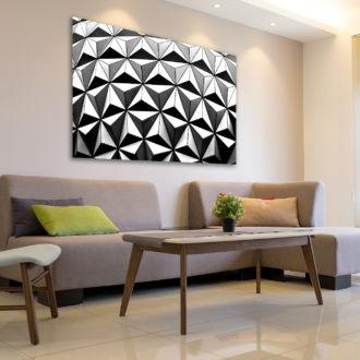tablou canvas abstract alb negru ABWL 001 simulare