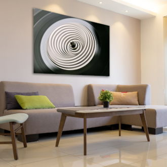 tablou canvas abstract alb negru ABWL 004 simulare