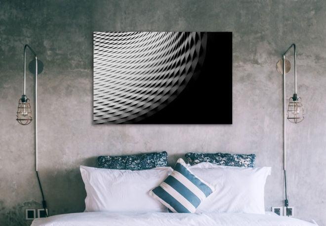 tablou canvas abstract alb negru ABWL 005 1