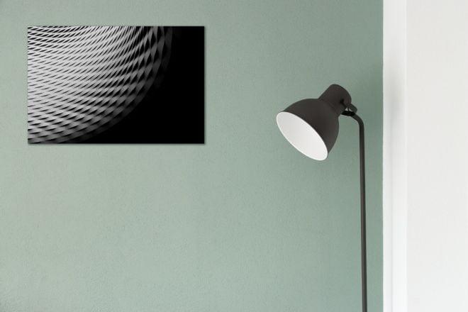 tablou canvas abstract alb negru ABWL 005 simulare