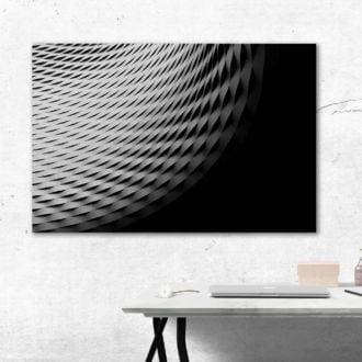 tablou canvas abstract alb negru ABWL 005 simulare3
