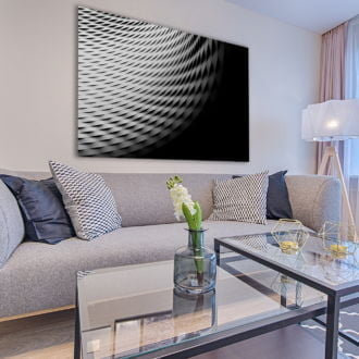 tablou canvas abstract alb negru ABWL 005 simulare5