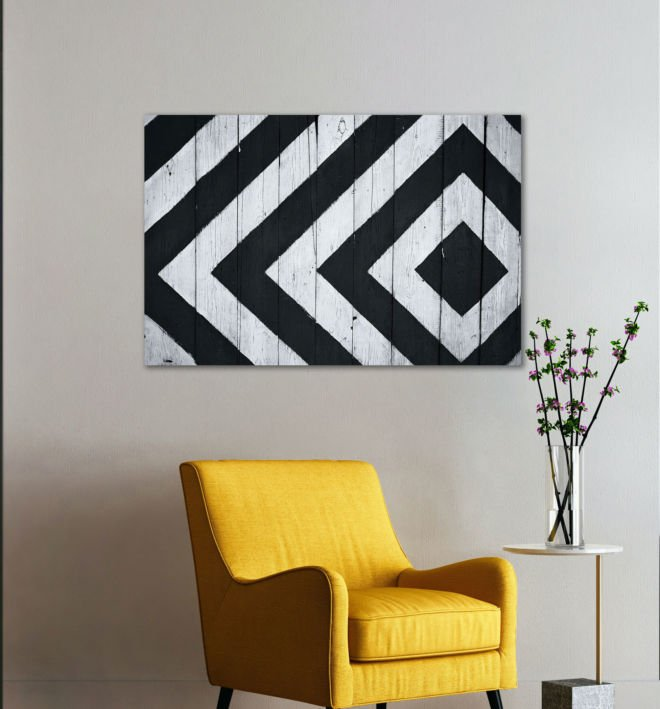 tablou canvas abstract alb negru ABWL 007 1