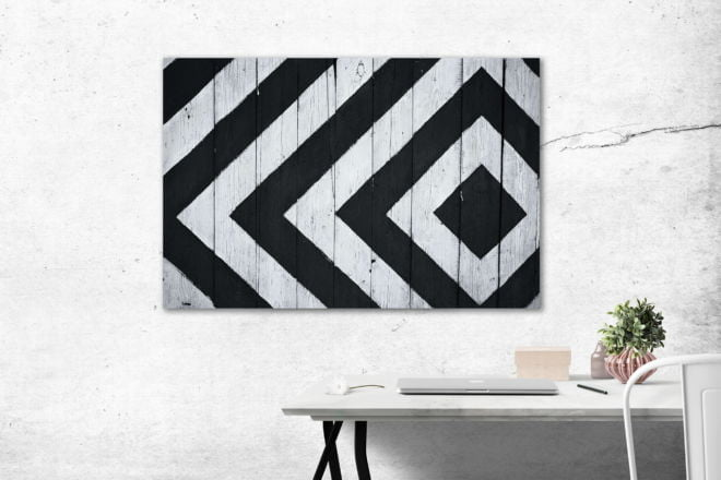 tablou canvas abstract alb negru ABWL 007 simulare3