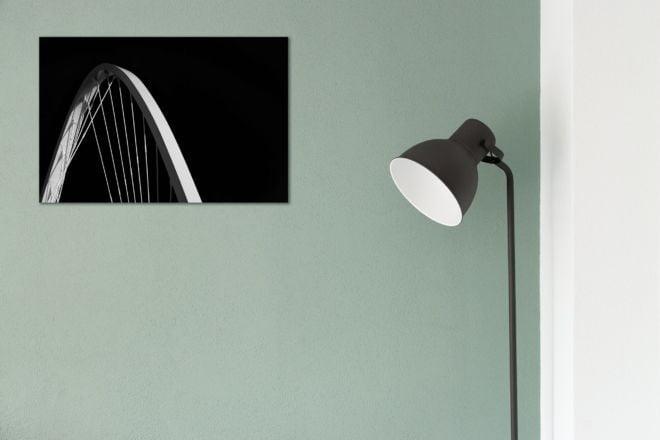 tablou canvas abstract alb negru ABWL 008 simulare