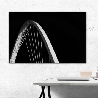 tablou canvas abstract alb negru ABWL 008 simulare3