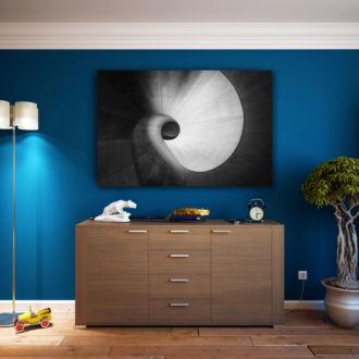 tablou canvas abstract alb negru ABWL 009 1
