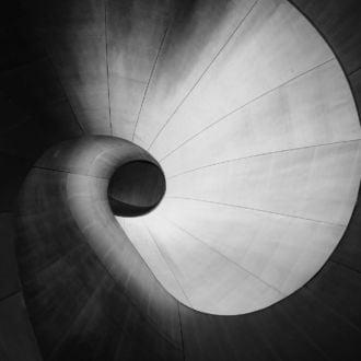 tablou canvas abstract alb negru ABWL 009