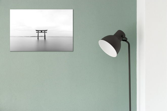 tablou canvas abstract alb negru ABWL 015 simulare