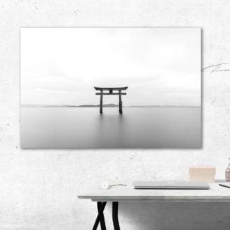 tablou canvas abstract alb negru ABWL 015 simulare3