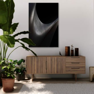 tablou canvas abstract alb negru ABWP 005 1