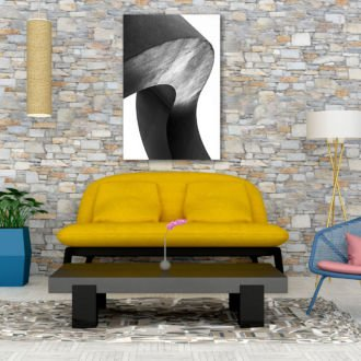 tablou canvas abstract alb negru ABWP 007 1