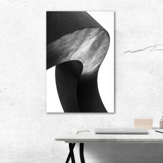tablou canvas abstract alb negru ABWP 007 simulare2