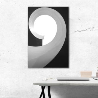 tablou canvas abstract alb negru ABWP 012 simulare2