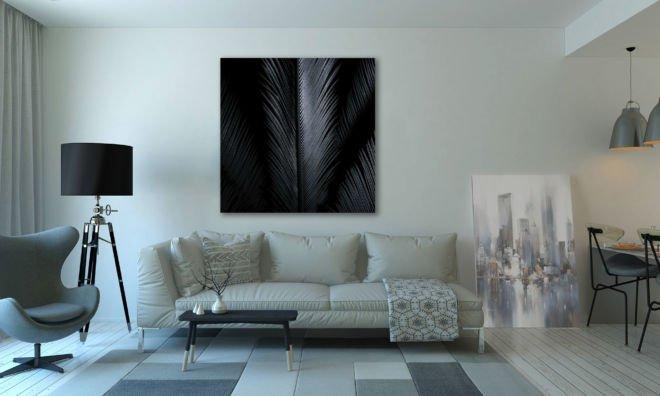 tablou canvas abstract alb negru ABWS 001 1