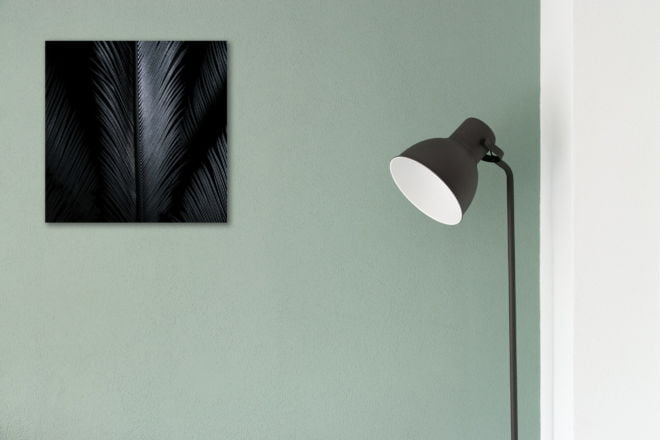 tablou canvas abstract alb negru ABWS 001 simulare