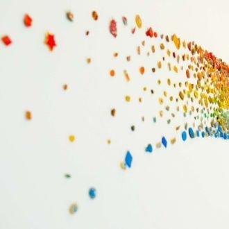 tablou canvas abstract culori ACOL 004