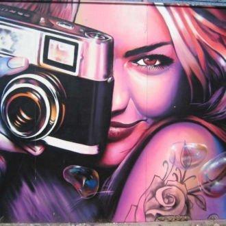 tablou canvas abstract graffiti AGRL 008