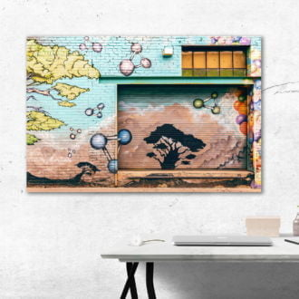 tablou canvas abstract graffiti AGRL 013 simulare3